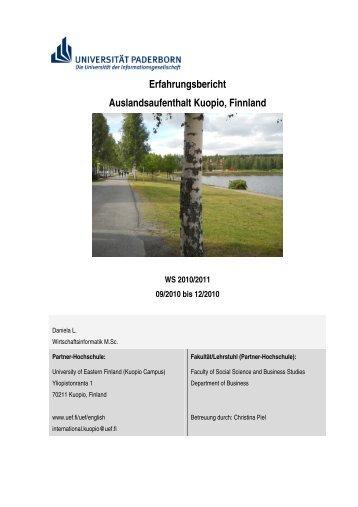 Erfahrungsbericht Auslandsaufenthalt Kuopio, Finnland