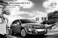 OPEL Astra Classic MY'11.5 A