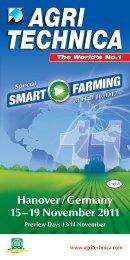 SMART FARMING SMART FARMING - Agritechnica
