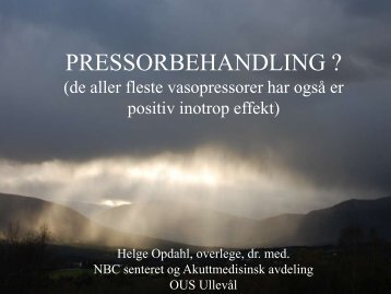 Pressor - Oslo universitetssykehus