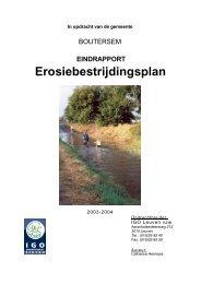 Erosiebestrijdingsplan - Gemeente Boutersem