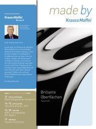 Brillante Oberflächen - KraussMaffei