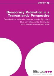2009:1op Democracy Promotion in a Transatlantic Perspective - Sieps