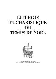 LITURGIE EUCHARISTIQUE DU TEMPS DE NOËL