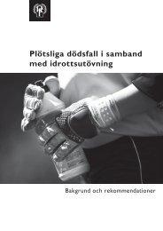 Plötsliga dödsfall i samband med idrottsutövning - Riksidrottsförbundet