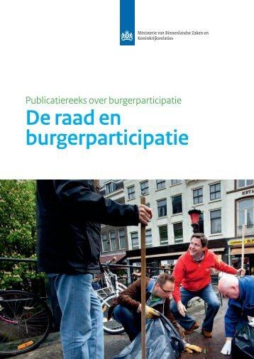 De raad en burgerparticipatie - Vereniging van Nederlandse ...