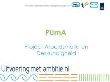 Project Arbeidsmarkt en Deskundigheid - Vereniging BWT Nederland