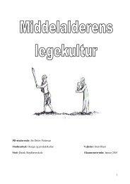 Middelalderens legekultur. - dansk sløjdlærerskole