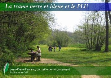 La Trame Verte et Bleue dans les documents d'urbanisme et Charte ...