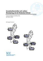 Grundvattennivåer och vattenförsörjning vid ett förändrat klimat