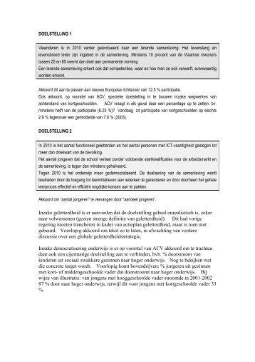 DOELSTELLING 1 - ACV Openbare Diensten