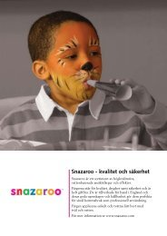 Snazaroo - kvalitet och säkerhet - Colart