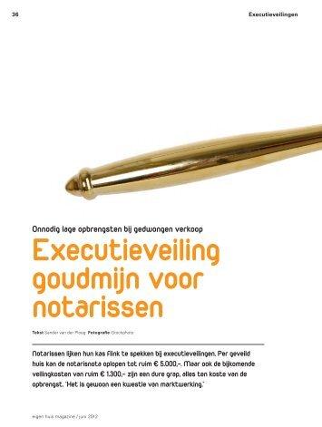 Executieveiling goudmijn voor notarissen - Vereniging Eigen Huis