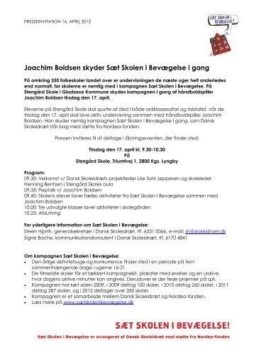 Joachim Boldsen skyder Sæt Skolen i ... - Dansk Skoleidræt