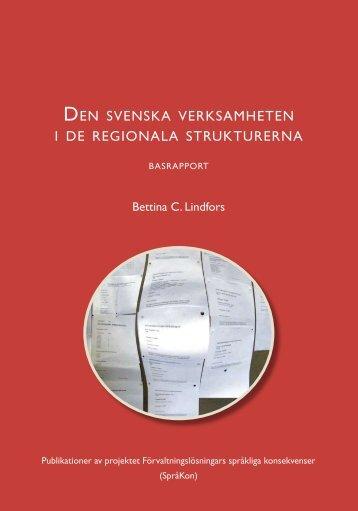 den svenska verksamheten i de regionala strukturerna - och ...