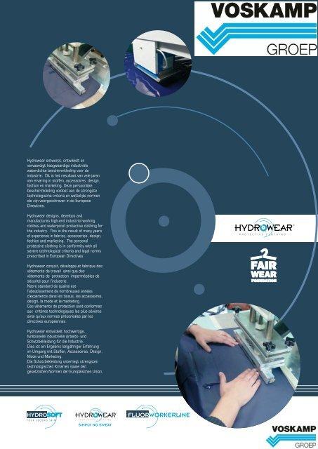 Hydrowear ontwerpt, ontwikkelt en vervaardigt hoogwaardige ...