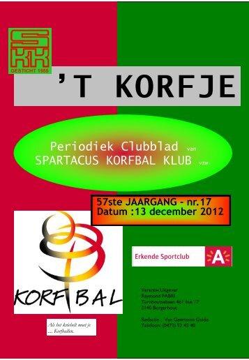 Clubblad 17 - Spartacus Korfbal