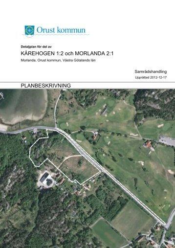 Planbeskrivning - Orust kommun