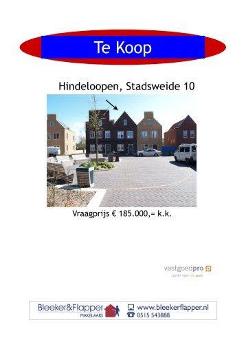 BROCHURE Hindeloopen Stadsweide 10 - Bleeker & Flapper ...