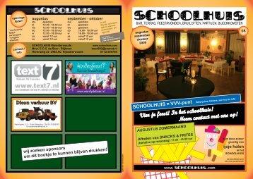 Vier je feest! In het schoolhuis! Neem contact met ons op!