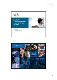 Unified Communications – Visionen fü r die Zukunft