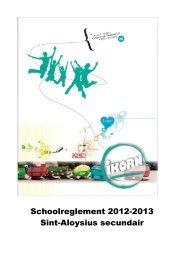 Schoolreglement - Sint-Aloysius secundair - ikorn
