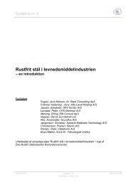Rustfrit stål i levnedsmiddelindustrien – en introduktion