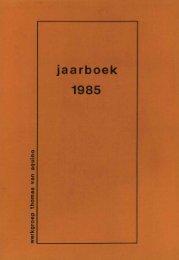 jaarboek 1985 - Thomas Instituut te Utrecht