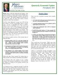 Quarter One Economic Update 2011 - Legacy Advisors Wealth ...