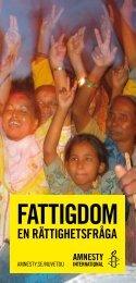 en rättighetsfråga - Amnesty International