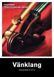 Klicka för att ladda ner medlemsblad November 2012 - Konserthuset
