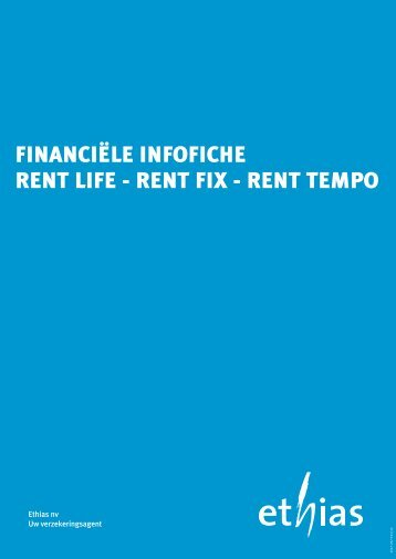 Infofiche - RENT (PDF - 322 Kb) - Ethias