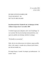 OG DET TALTE ORD GÆLDER Kartelformand Peter Waldor - CFU
