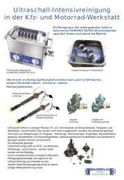 Ultraschall-Reinigungsgeräte