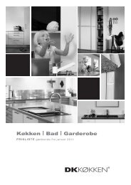Prislisten 2011 - Galten køkken og bad