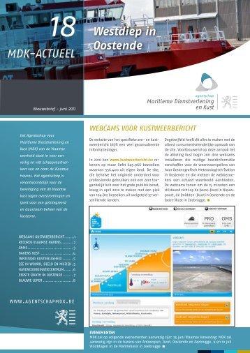 MDK-Actueel 18 - juni 2011 ( PDF 848Kb) - Agentschap Maritieme ...