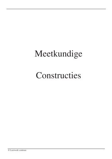 Meetkundige Constructies
