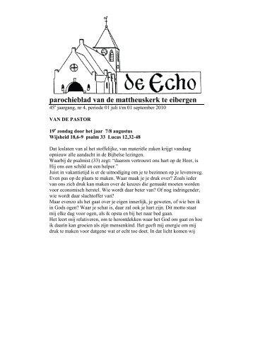 parochieblad van de mattheuskerk te eibergen - RK Mattheus