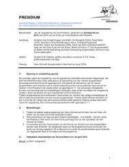besluitenlijst presidium 26 juni 2012 - Gemeenteraad - Gemeente ...