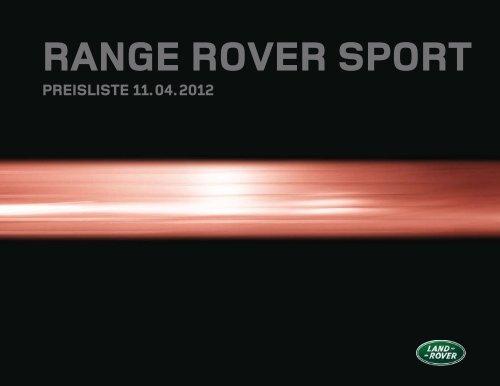 RANGE ROVER SPORT - Land Rover