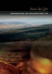 Årsredovisning- maj 2005 - Auriant Mining