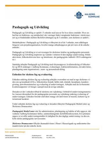Pædagogik og Udvikling - Aalborg Kommunale Skolevæsen