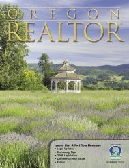 Issues that Affect Your Business - Oregon Association of Realtors