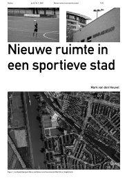 Nieuwe ruimte in een sportieve stad - Rooilijn