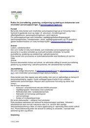 Rutine for journalføring, gradering, avskjerming og sletting av ...