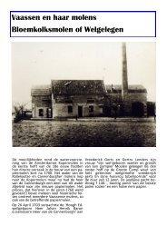 Bloemkolksmolen - Museum Vaassen Historie