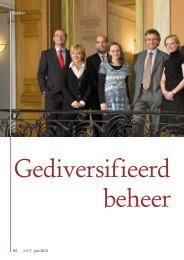Gediversifieerd beheer - Banque Degroof