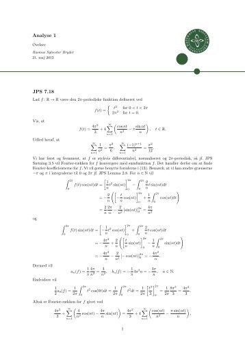 Torsdagsøvelser - Matematik - Rasmus Sylvester Bryder