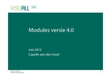 Modules versie 4.0 - Visuall