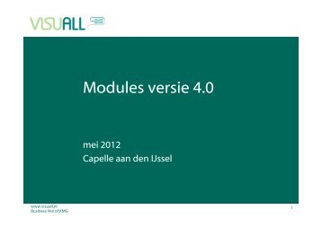 Modules versie 4.0 - Visuall